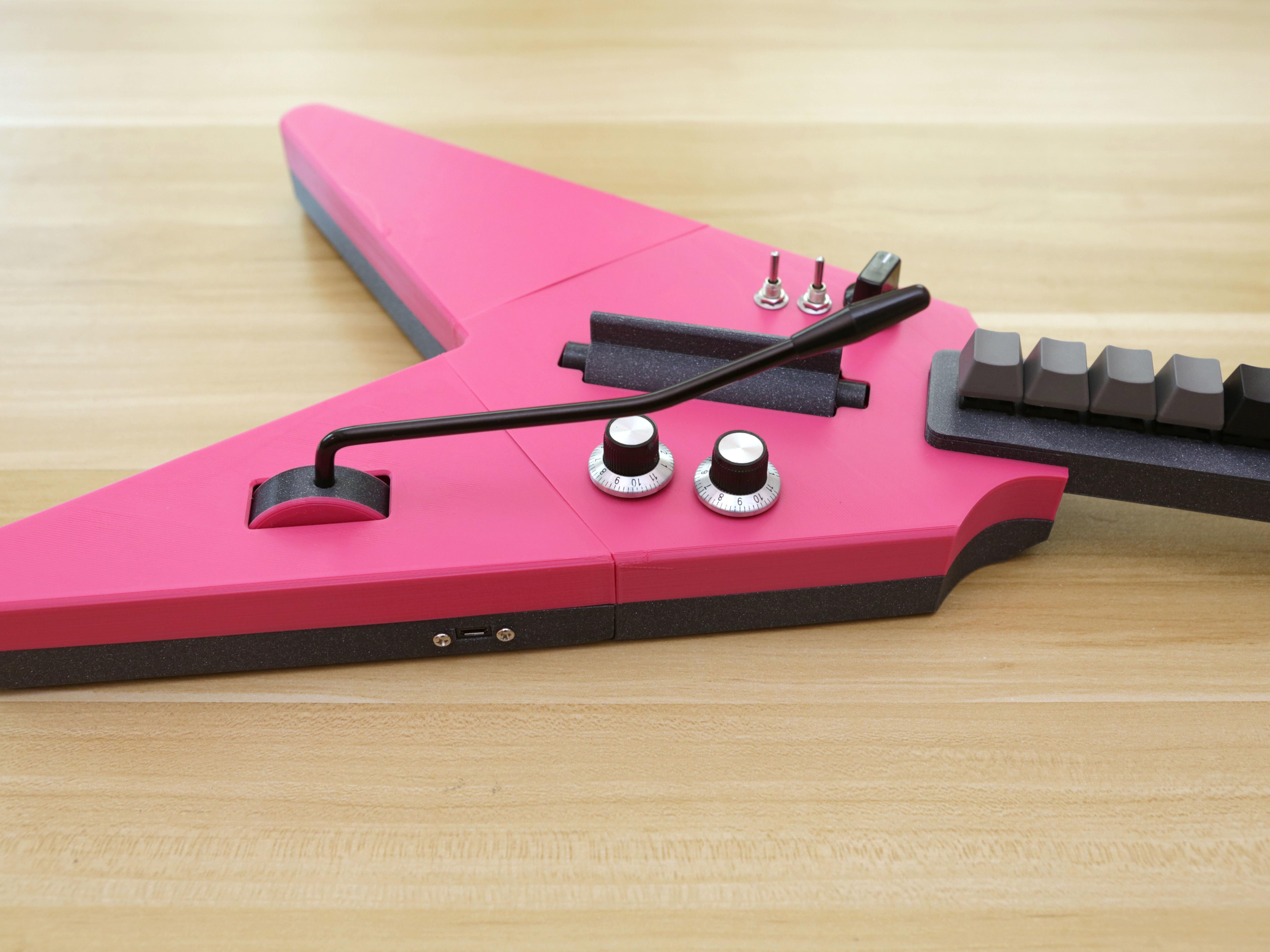 hero-wmy-knobs.jpg Download free STL file MX MIDI Guitar • 3D print model, Adafruit