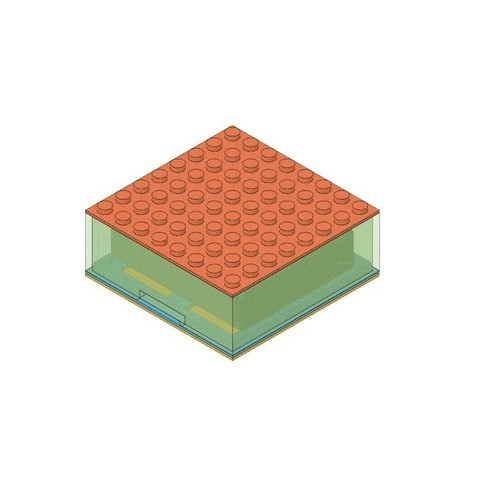 2db09b62d31de8b3565da647b7f30c55_display_large.jpg Télécharger fichier STL gratuit Étui à piles compatible LEGO • Design pour imprimante 3D, Adafruit