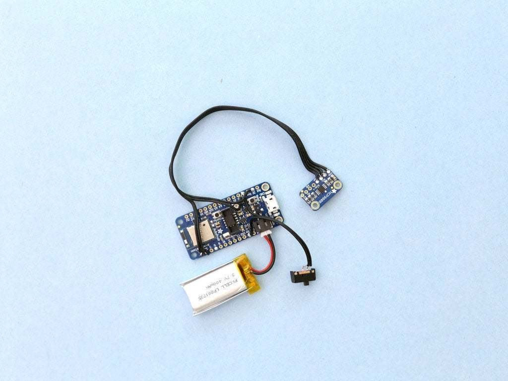 circuit-wired.jpg Download free STL file Wearable Temperature Monitor • 3D printing object, Adafruit