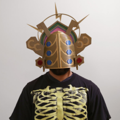 Download free 3D printer templates Thunder Helm - Zelda Breath of The Wild, Adafruit