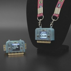 Download free 3D printing files CLUE wearable case, Adafruit