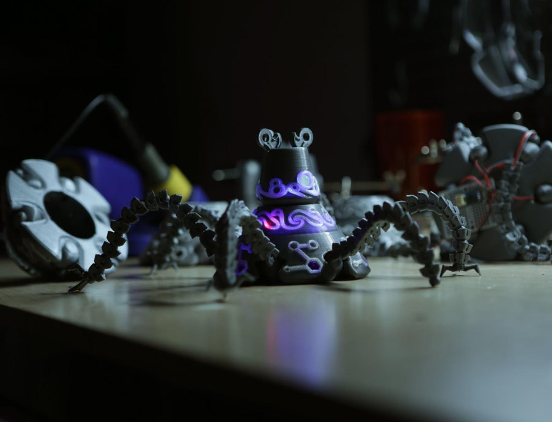 Capture d'écran 2017-07-19 à 18.58.58.png Download free STL file Guardian Robot Hackable – Bottom Remix • 3D print object, Adafruit