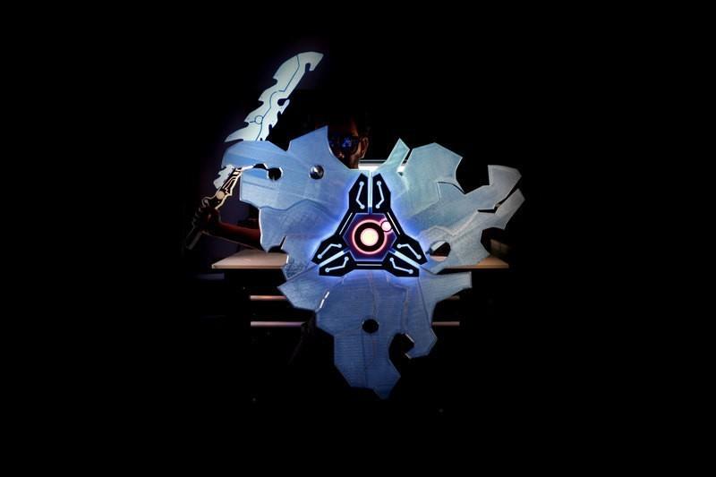 hero-shield-sword.jpg Download free STL file Guardian Shield+ Zelda Breath of the Wild • 3D print object, Adafruit