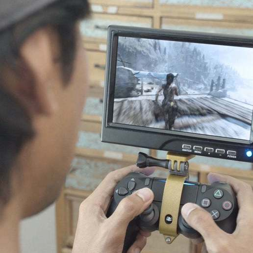 hero-game.jpg Download free STL file PS4 Display Tripod Mount • Template to 3D print, Adafruit