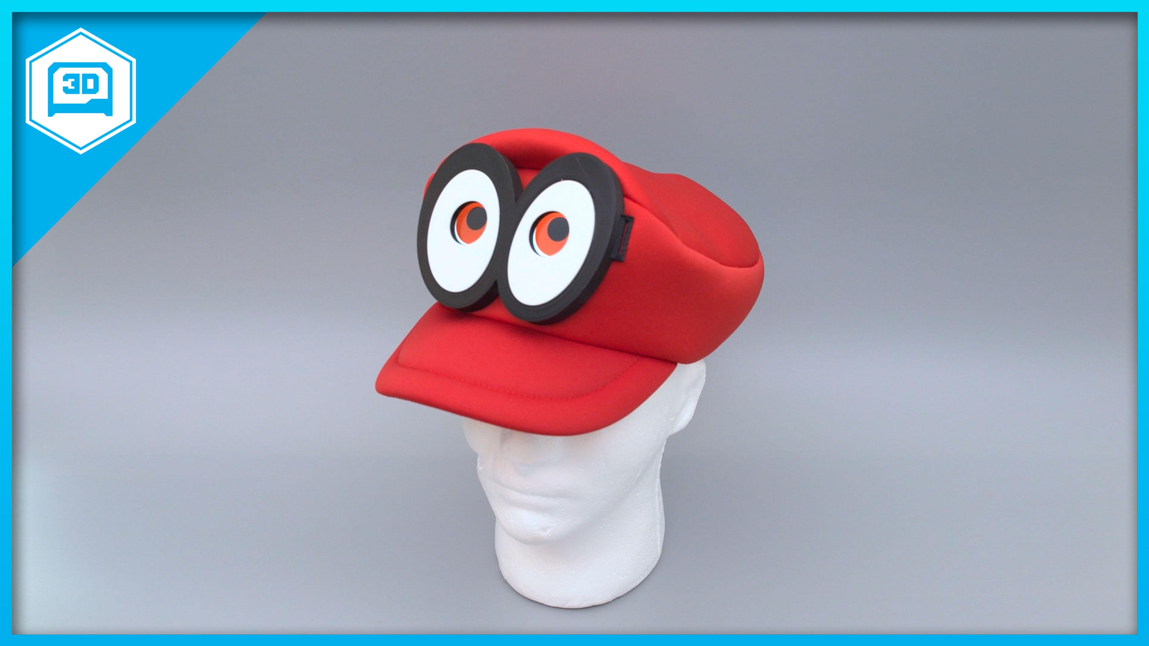 cappy-thumb.jpg Télécharger fichier STL gratuit Mario Cappy Chapeau Animated Eyes Animated Eyes • Objet imprimable en 3D, Adafruit