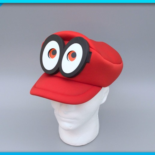 cappy-thumb.jpg Download free STL file Mario Cappy Animated Eyes Hat • 3D print object, Adafruit