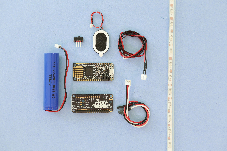 parts.jpg Télécharger fichier STL gratuit LED Zelda Master • Modèle pour imprimante 3D, Adafruit