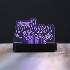 Free 3D model LED Acrylic Sign with NeoPixels and Circuit Python, Adafruit