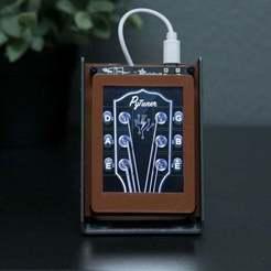 Download free 3D printer designs Guitar Tuner PyPortal, Adafruit