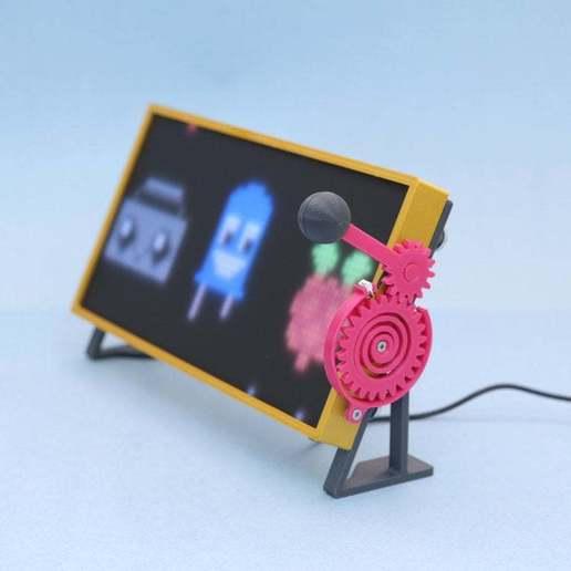 hero-angle.jpg Download free STL file RGB Matrix Slot Machine • 3D print object, Adafruit
