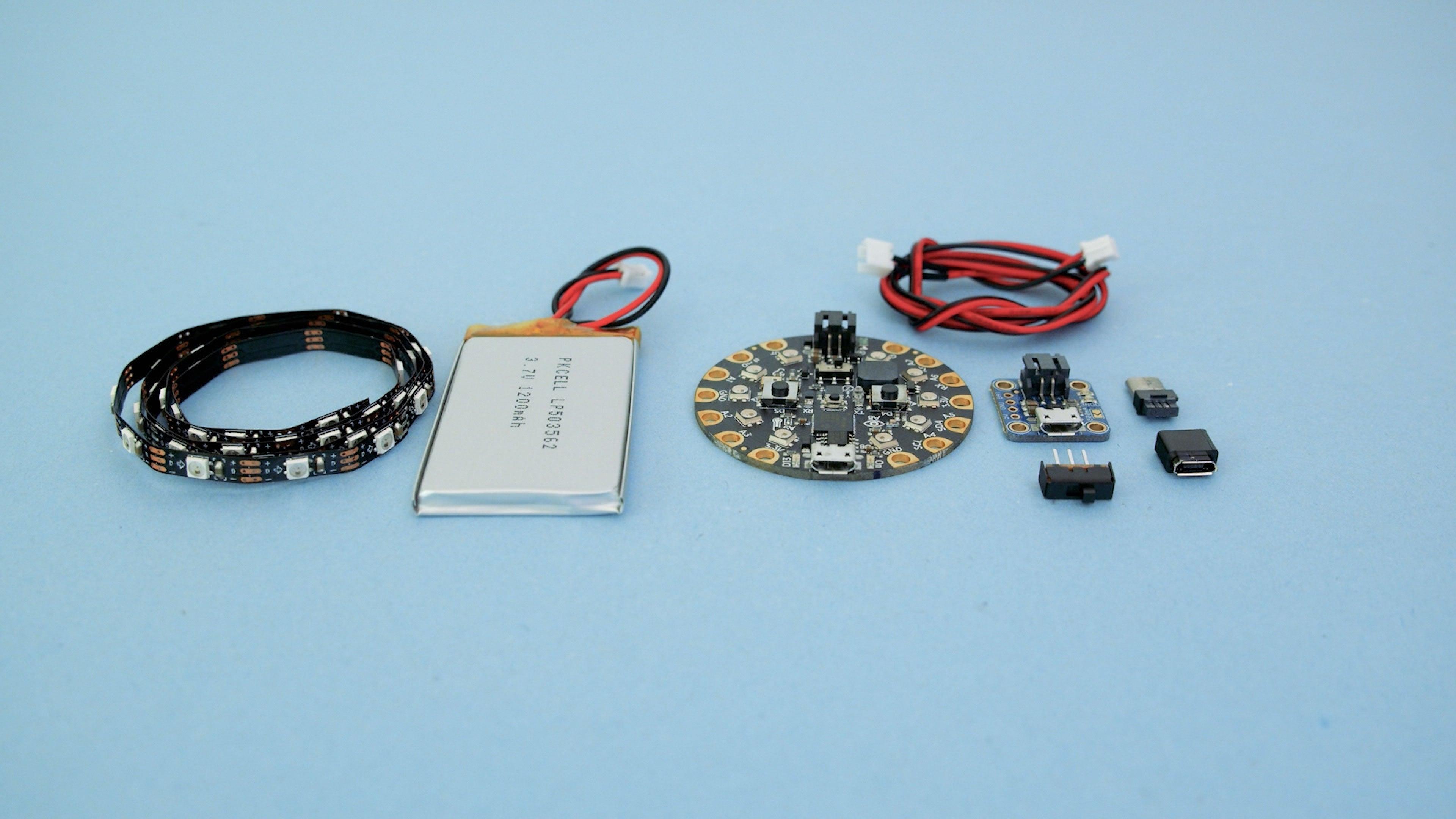 parts.jpg Télécharger fichier STL gratuit Visière de casque SpaceX • Objet pour impression 3D, Adafruit