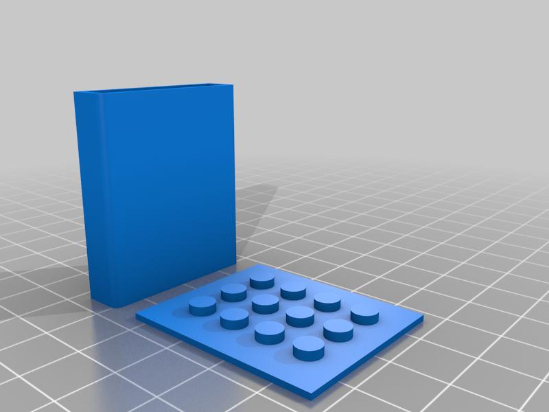 lego-500-pocket-studs.png Download free STL file Neon Neopixel Strip Lego • 3D printable template, Adafruit