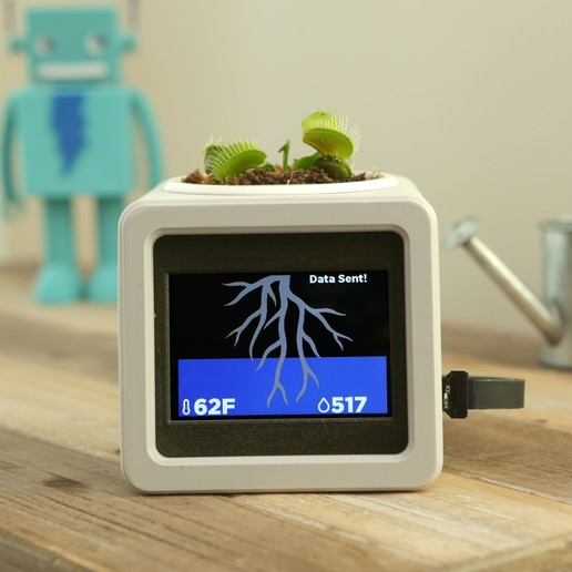 hero-flytrap-adabot.jpg Download free STL file Smart IOT Pet Planter • Template to 3D print, Adafruit