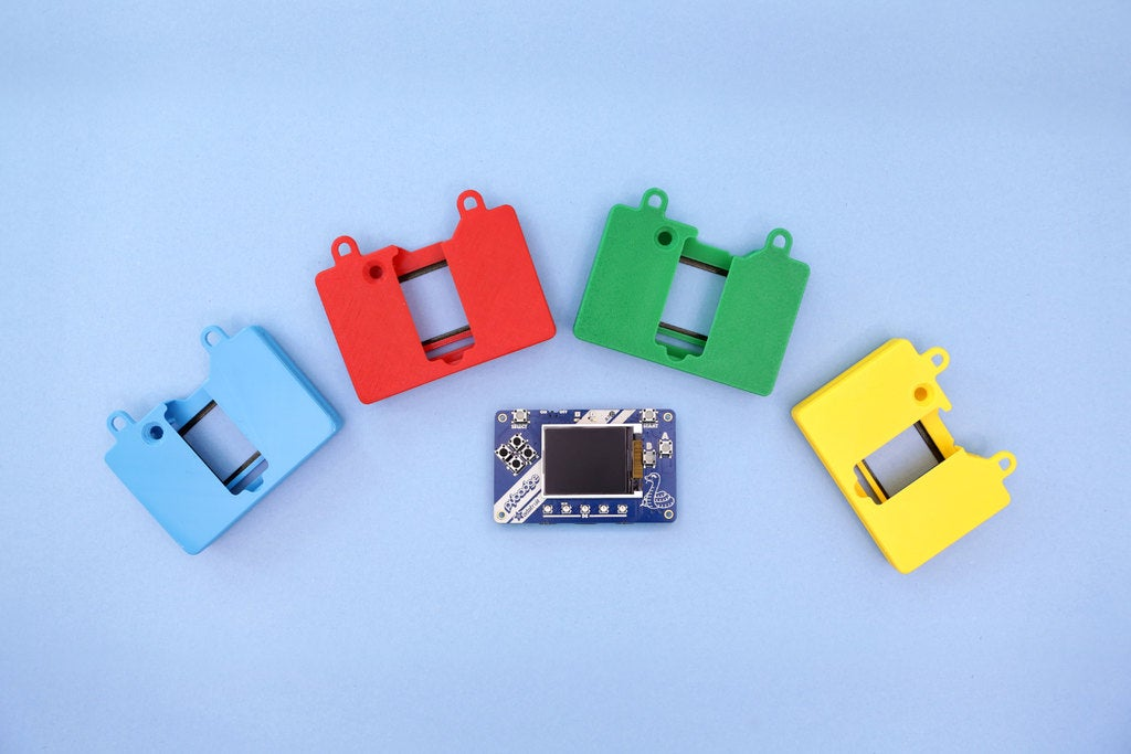 4e9acc6532e448837674b48a14dd8ae1_display_large.jpg Download free STL file PyBadge FeatherWing Snapfit Case • 3D printing object, Adafruit