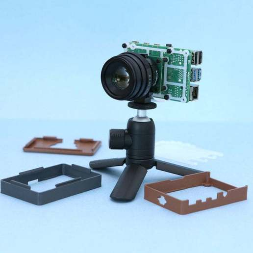 pcb-mount-parts.jpg Download free STL file Raspberry Pi HQ Camera Case • 3D print design, Adafruit