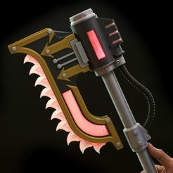 Free 3D printer designs Prop-Maker Keyblade, Adafruit