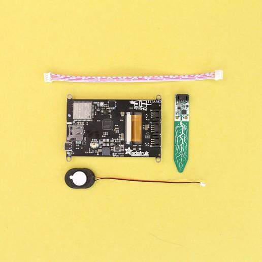 parts-all.jpg Download free STL file IOT Smart Pet Planter • Template to 3D print, Adafruit