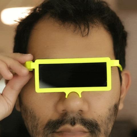 Objet 3D gratuit LCD Glasses, Adafruit
