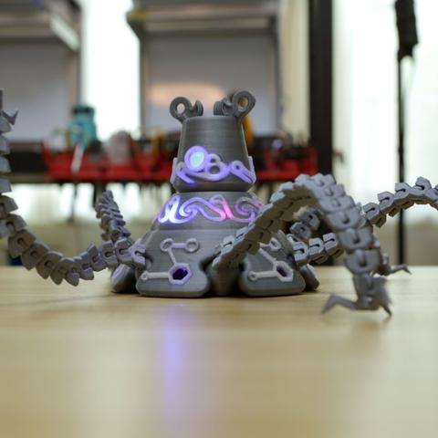 Capture d'écran 2017-07-19 à 18.58.51.png Download free STL file Guardian Robot Hackable – Bottom Remix • 3D print object, Adafruit
