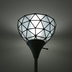 Free 3D printer model Geodesic Lamp Shade, Adafruit