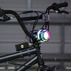 Free 3D printer designs NeoPixel Bike Light, Adafruit