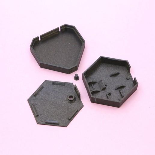 3d-parts.jpg Download free STL file NeoPixel LED Heart Necklace • 3D printable model, Adafruit