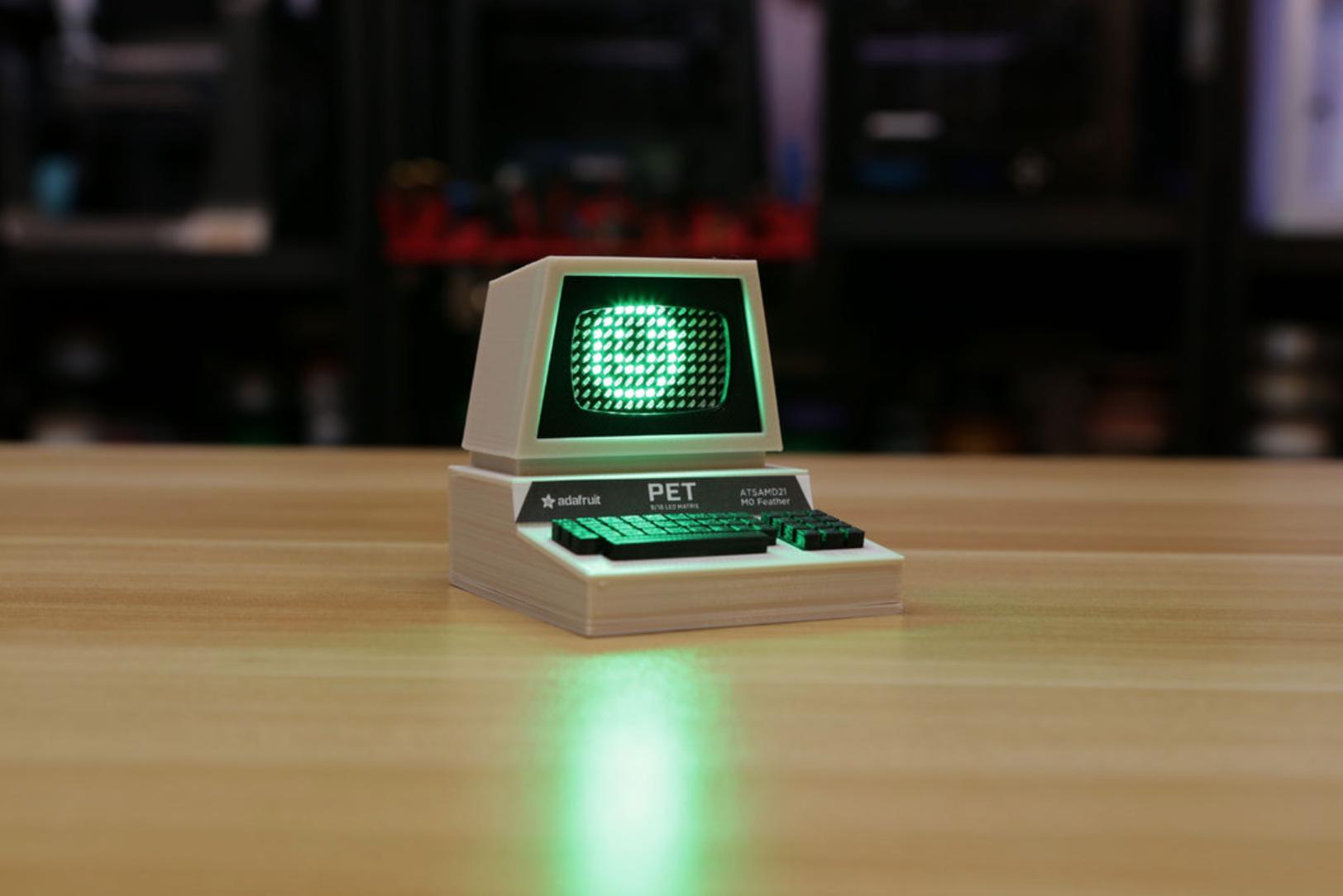 Capture d'écran 2016-12-01 à 10.43.21.png Télécharger fichier STL gratuit Mini Commodore PET with Charlieplexed LED Matrix • Plan à imprimer en 3D, Adafruit