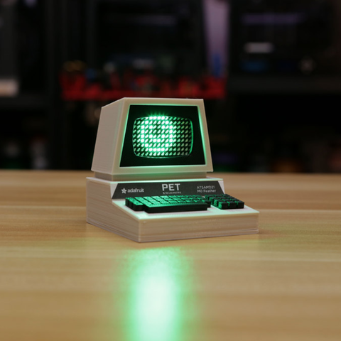 Free stl files Mini Commodore PET with Charlieplexed LED Matrix, Adafruit