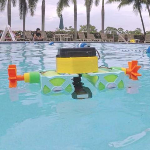 Capture d'écran 2018-08-01 à 12.03.20.png Download free STL file Crickit Paddle Wheel Boat • 3D printer design, Adafruit