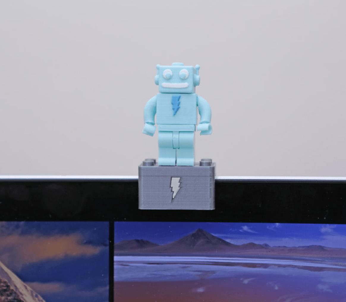 Capture d'écran 2018-03-29 à 10.04.12.png Download free STL file Webcam Cover-Up Lego brick with Adabot Mini Fig • 3D printable design, Adafruit