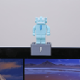 Free 3d printer files Webcam Cover-Up Lego brick with Adabot Mini Fig, Adafruit