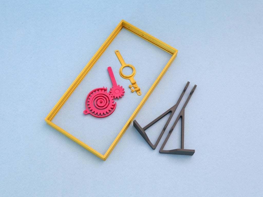 3d-parts-crop.jpg Download free STL file RGB Matrix Slot Machine • 3D print object, Adafruit