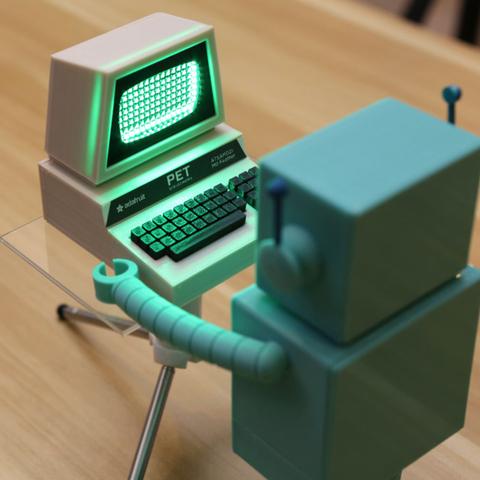 Capture d'écran 2016-12-01 à 10.43.35.png Télécharger fichier STL gratuit Mini Commodore PET with Charlieplexed LED Matrix • Plan à imprimer en 3D, Adafruit