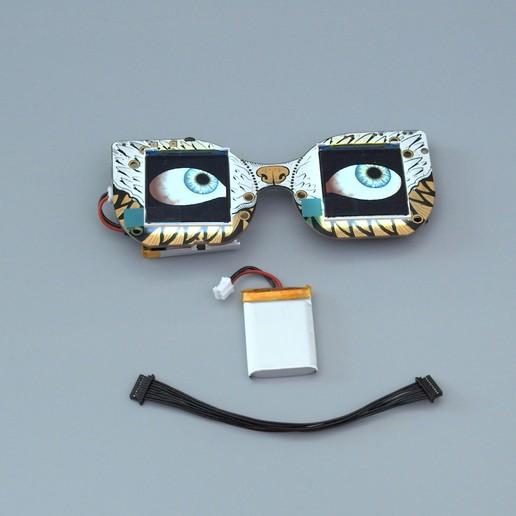 parts.jpg Télécharger fichier STL gratuit Mario Cappy Chapeau Animated Eyes Animated Eyes • Objet imprimable en 3D, Adafruit