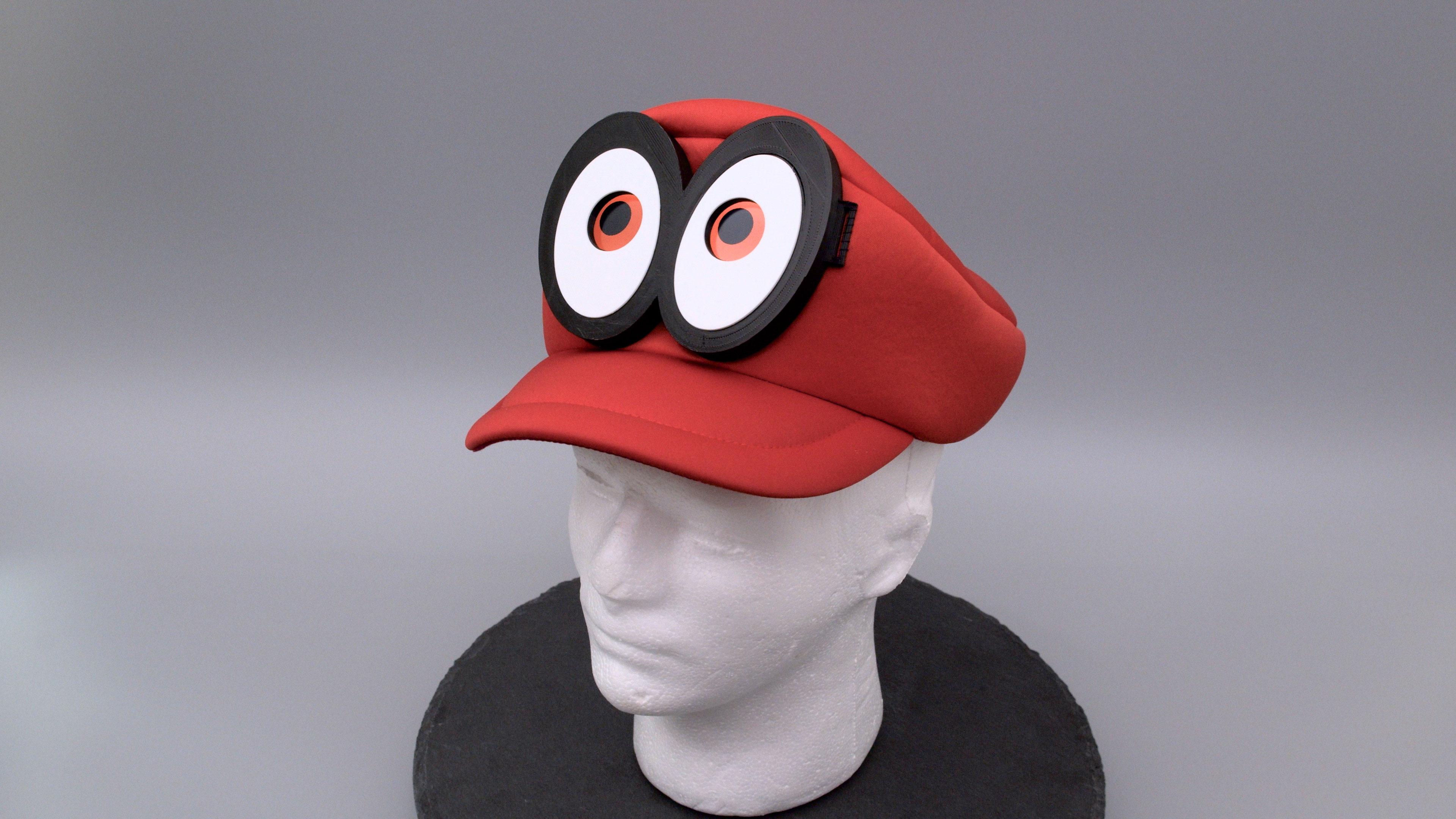 hero-still.jpg Télécharger fichier STL gratuit Mario Cappy Chapeau Animated Eyes Animated Eyes • Objet imprimable en 3D, Adafruit
