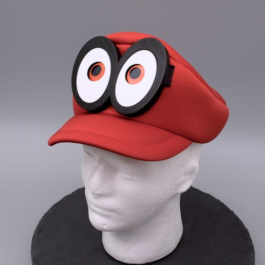 Download free STL files Mario Cappy Animated Eyes Hat, Adafruit