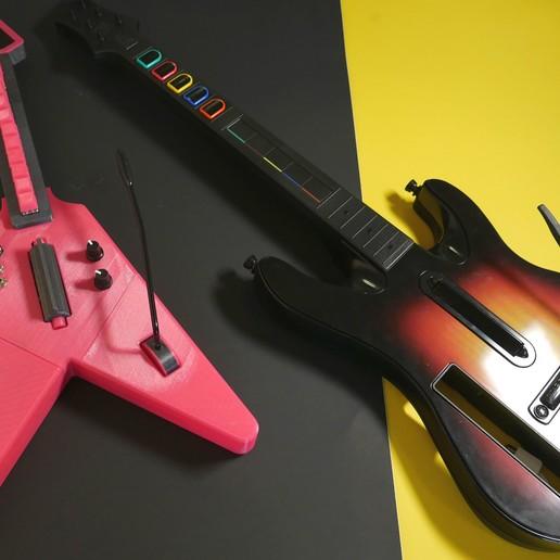 hero-controllers.jpg Download free STL file MX MIDI Guitar • 3D print model, Adafruit