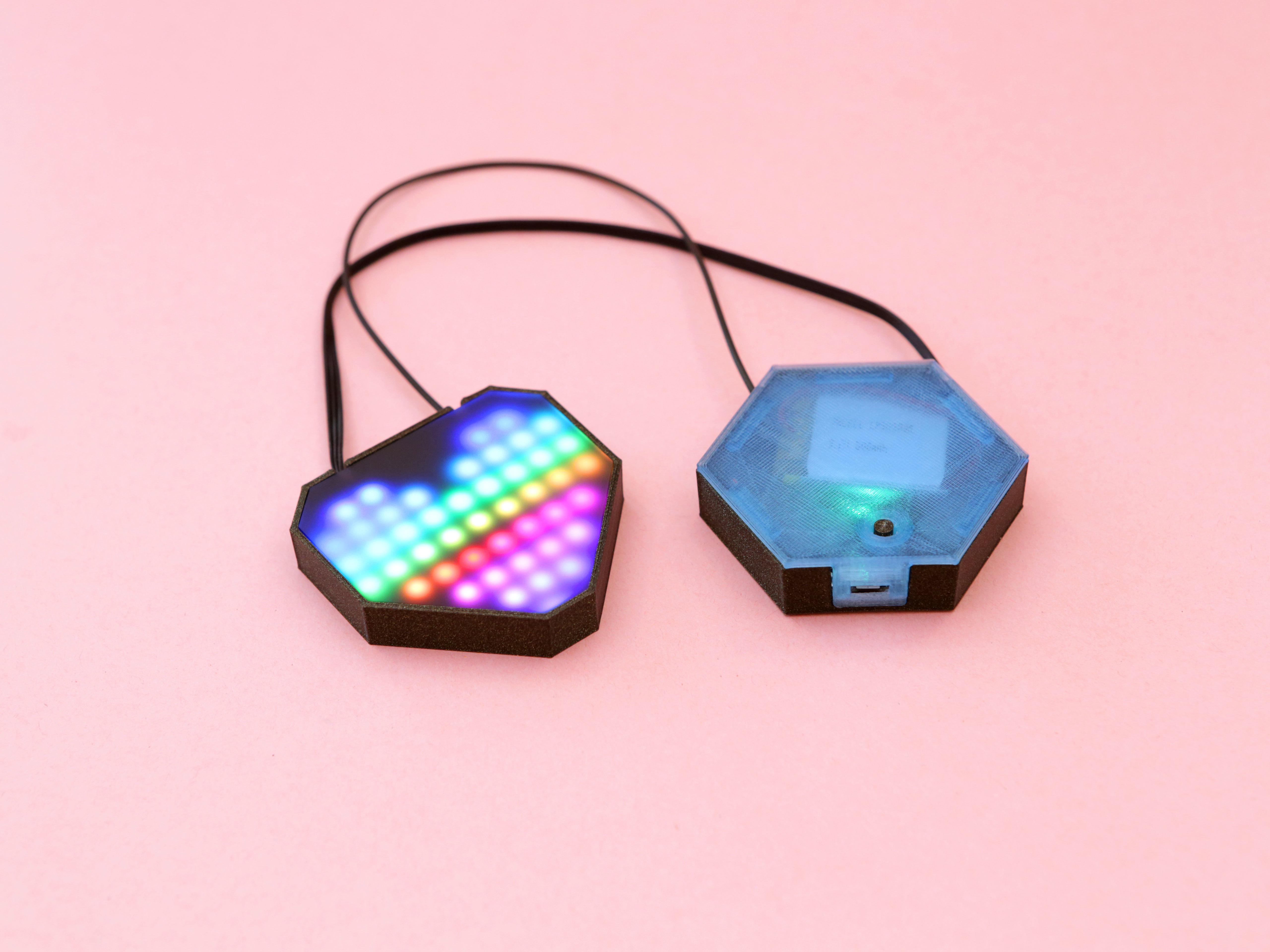 hero-heart-case.jpg Download free STL file NeoPixel LED Heart Necklace • 3D printable model, Adafruit