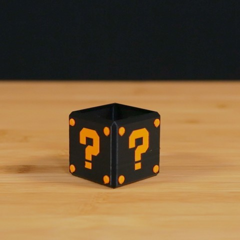 Download free 3D printing templates Dual Extrusion Question Block, Adafruit