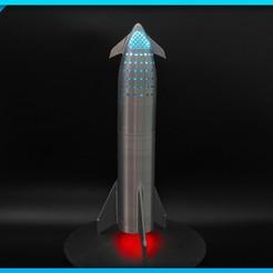 Télécharger fichier impression 3D gratuit Vaisseau SpaceX / Super lourd (BFR 2018), Adafruit