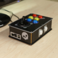 Download free STL Arcade Bonnet Controller for RetroPie, Adafruit
