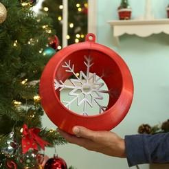 Download free 3D printer designs Jumbo Ornament – Snap Fit, Adafruit