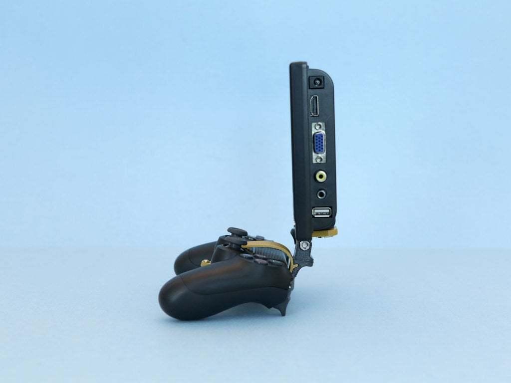 hero-side.jpg Download free STL file PS4 Display Tripod Mount • Template to 3D print, Adafruit