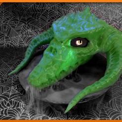 Télécharger fichier STL gratuit Crâne de dragon noir creux, Adafruit