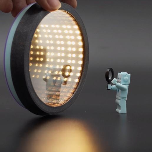 hero-adabot-mirror.jpg Télécharger fichier STL gratuit Miroir Infini • Objet à imprimer en 3D, Adafruit