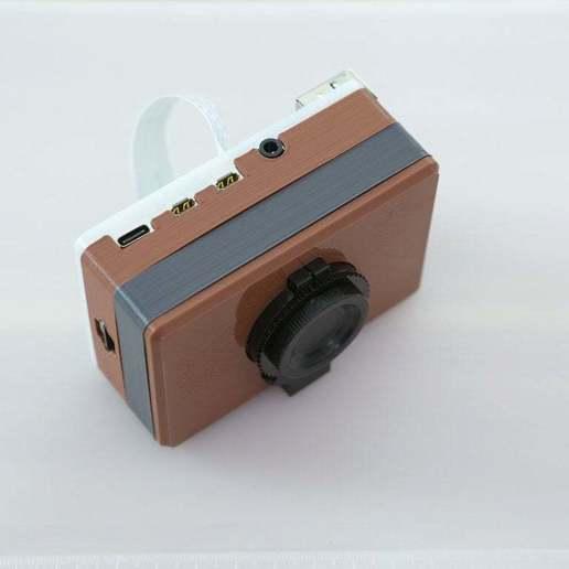 final-build-top.jpg Download free STL file Raspberry Pi HQ Camera Case • 3D print design, Adafruit