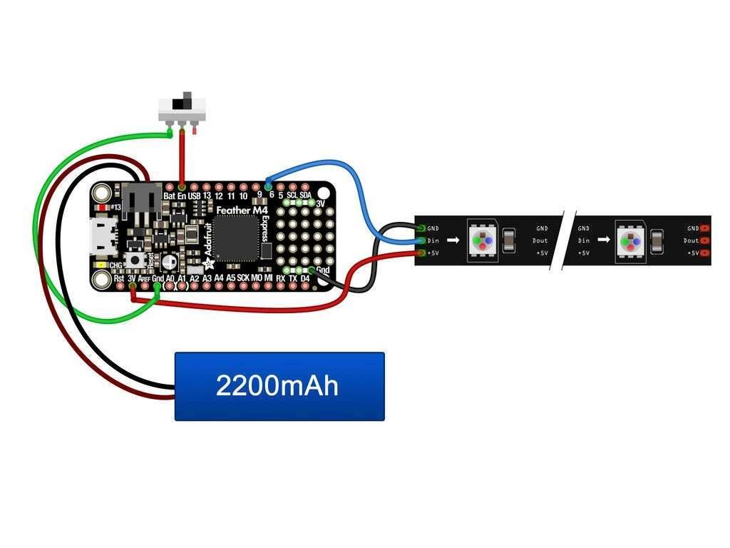 neon-circuit-diagram.jpg Download free STL file Neon Neopixel Strip Lego • 3D printable template, Adafruit
