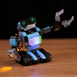 Free 3d printer designs Lego LED Brick, Adafruit