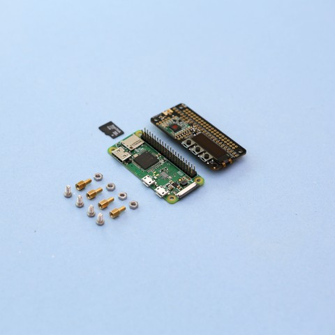 parts-angle.jpg Download free STL file Raspberry Pi Zero Stand • 3D printing object, Adafruit