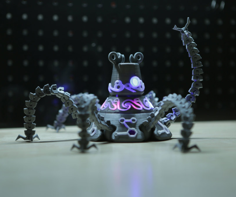 Capture d'écran 2017-07-19 à 18.58.45.png Download free STL file Guardian Robot Hackable – Bottom Remix • 3D print object, Adafruit